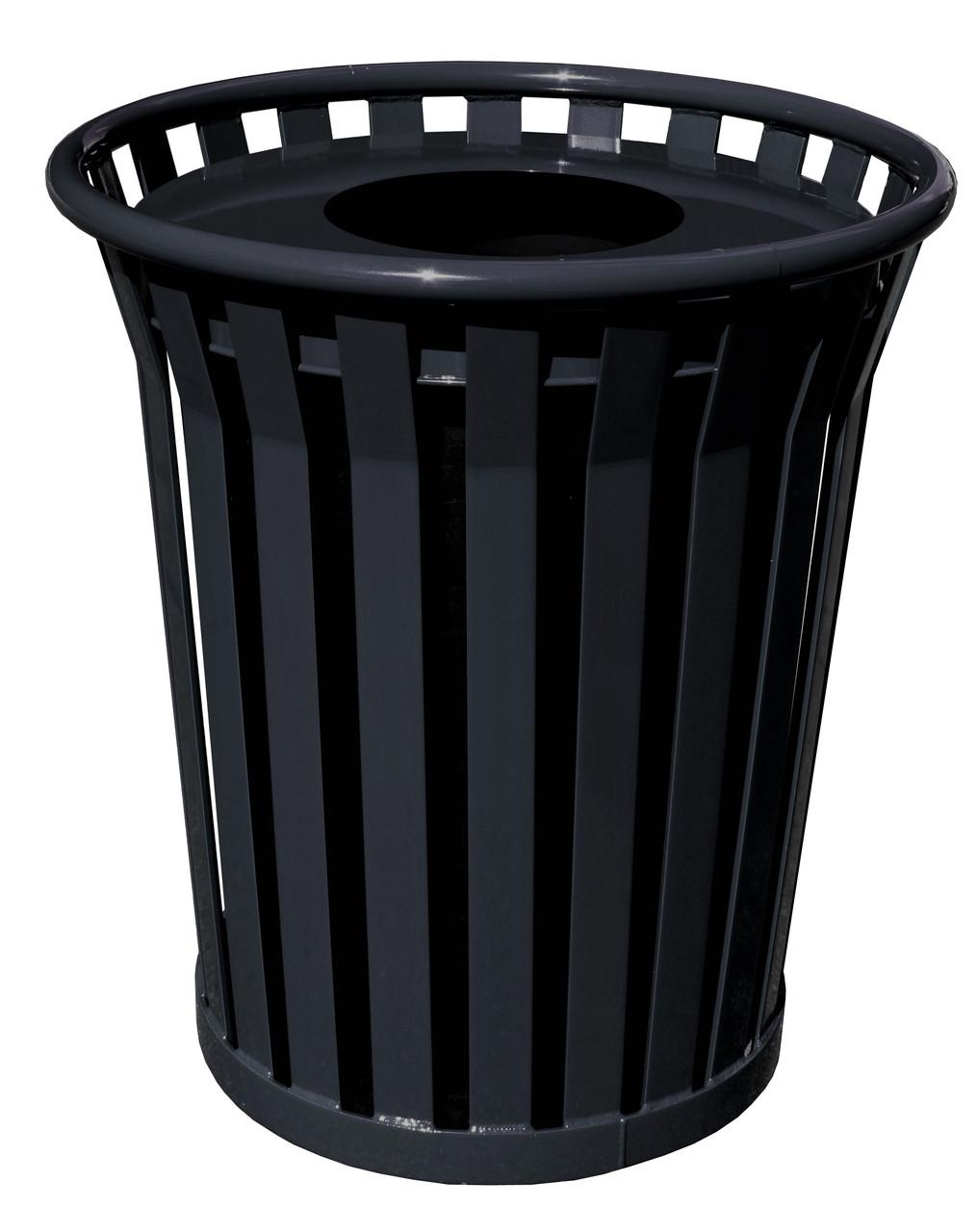 Witt 36 Gallon WC3600-FT-BK Outdoor Waste Receptacle Black