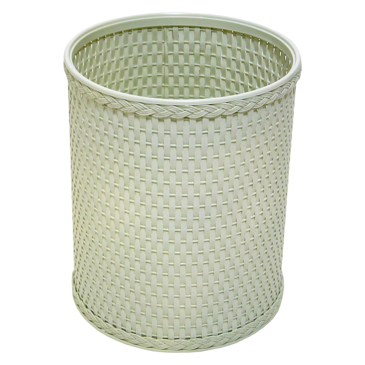 Chelsea Wicker Round Wastebasket Herbal Green