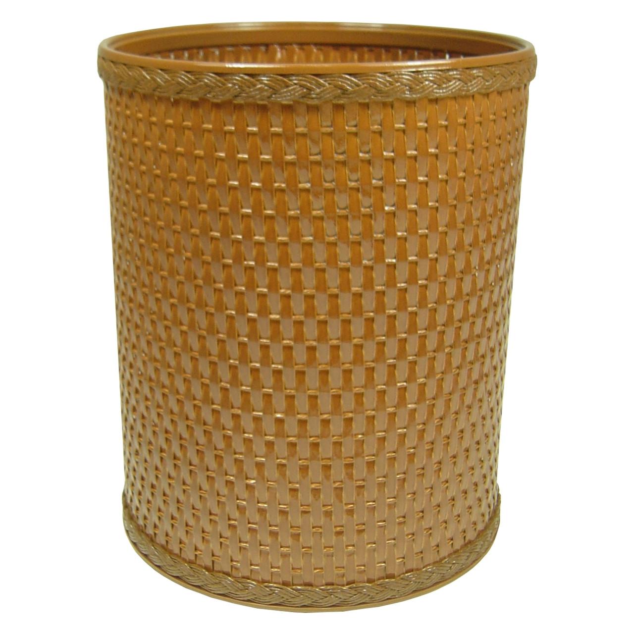 Chelsea Wicker Round Wastebasket Nutmeg