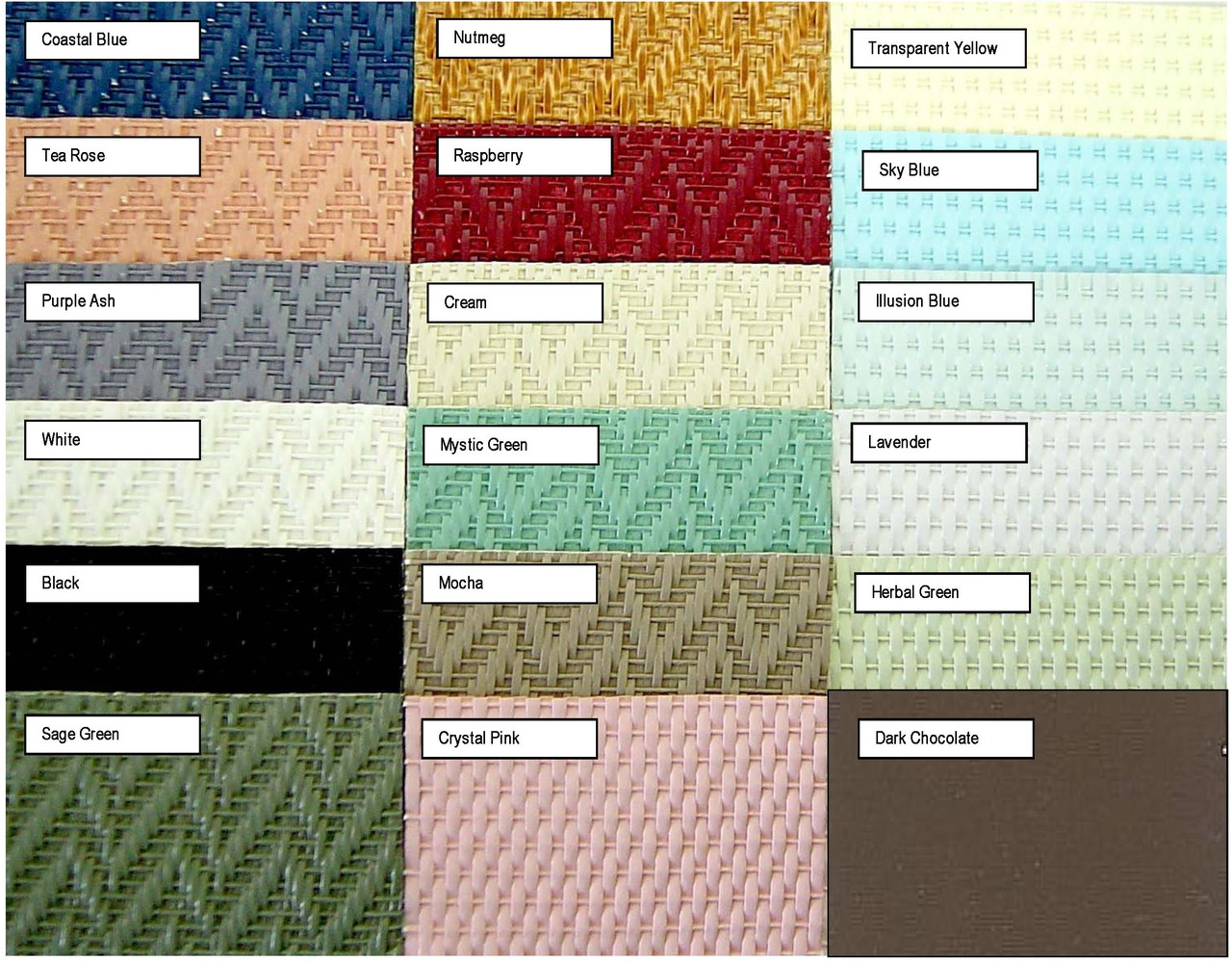 Wicker Colors