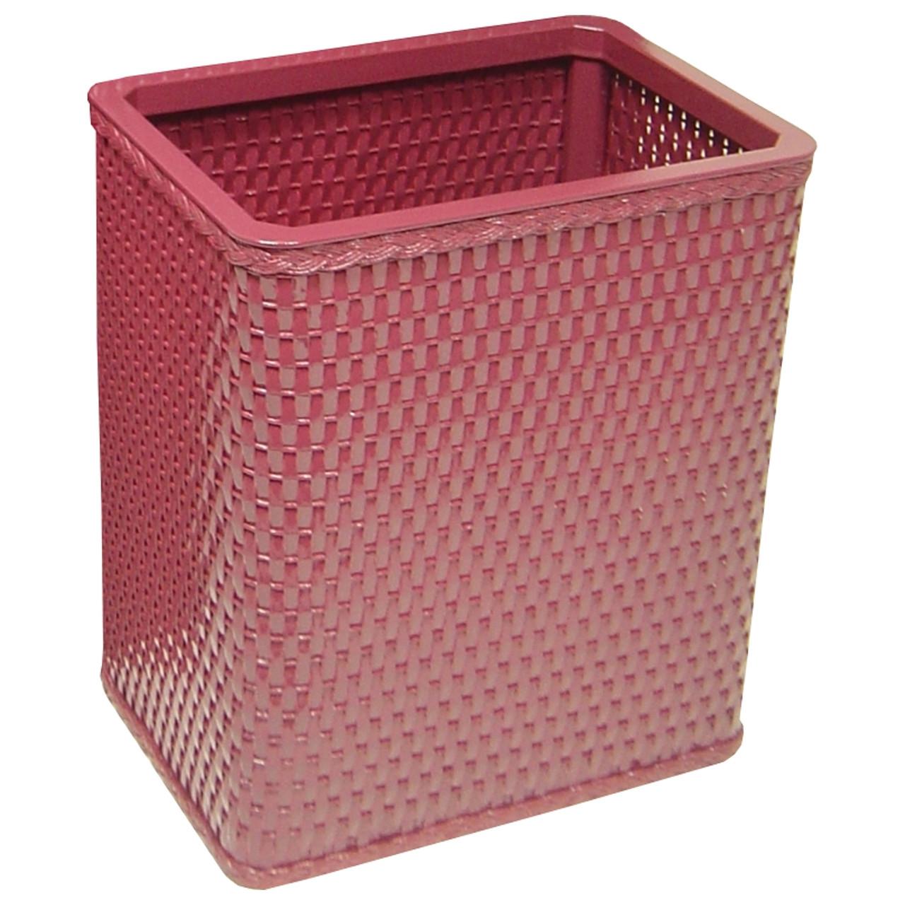 Chelsea Redmon Chelsea Wicker Rectangular Wastebasket Raspberry