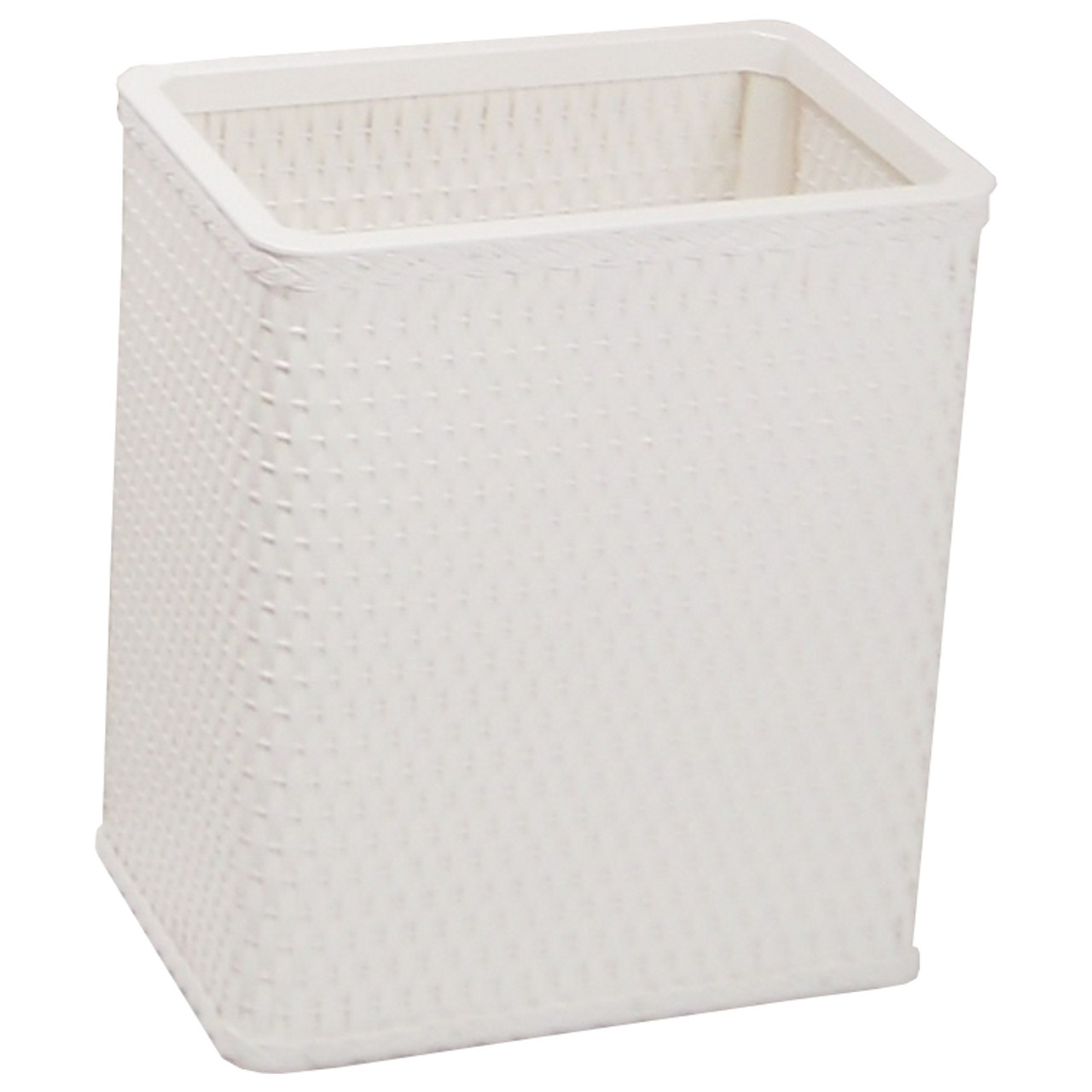 Chelsea Wicker Rectangular Wastebasket White