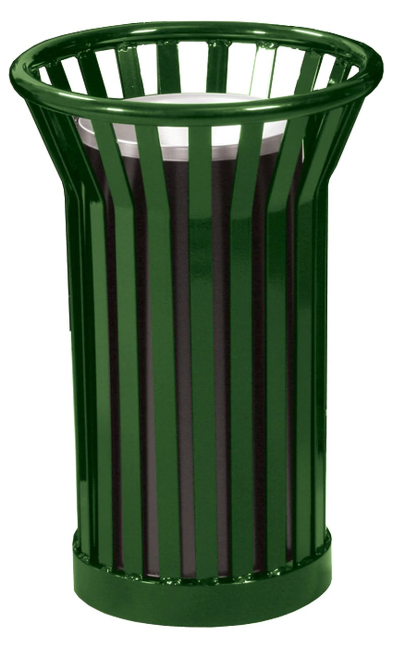 Witt Industries Wydman WC2000 Outdoor Cigarette Ash Waste Receptacle Green