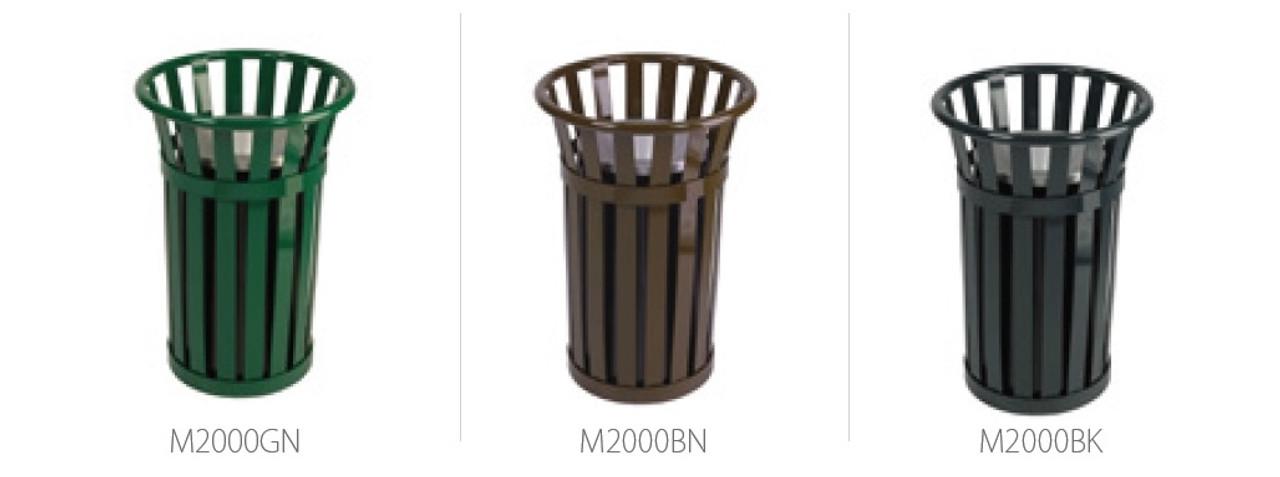 3 Gallon Metal Mesh Oakley M2000 Outdoor Ashtray 3 Colors