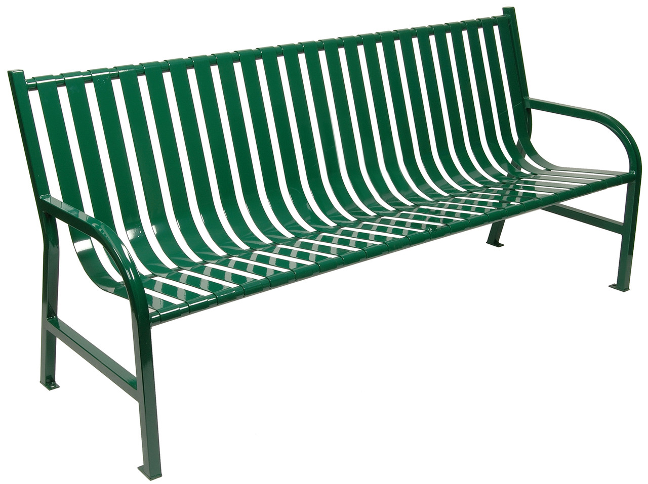 Witt Industries Oakley Outdoor Slatted Bench 6 Foot Green