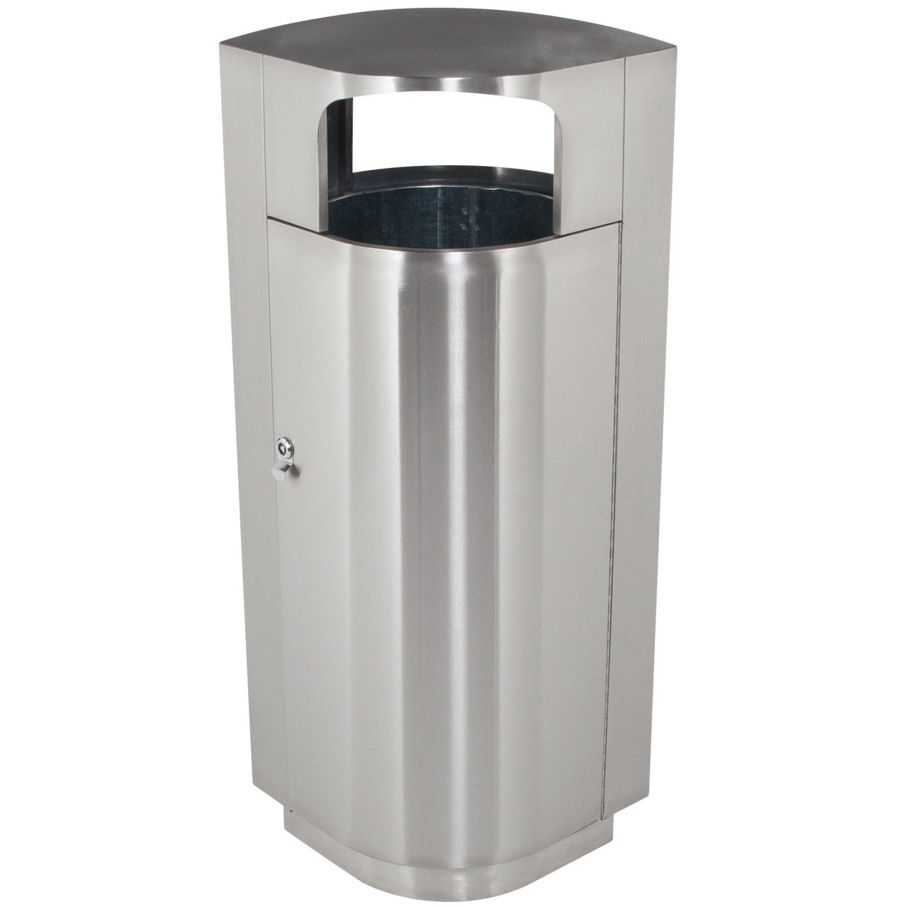 20 Gallon Leafview 1 Locking Stainless Steel Lockable Trash Can 782029