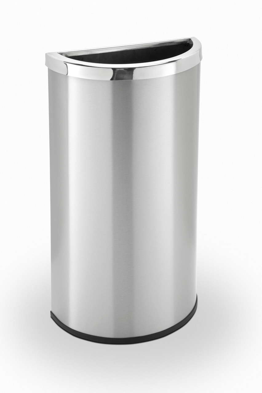 8 Gallon Half Round Stainless Steel Trash Can Precision