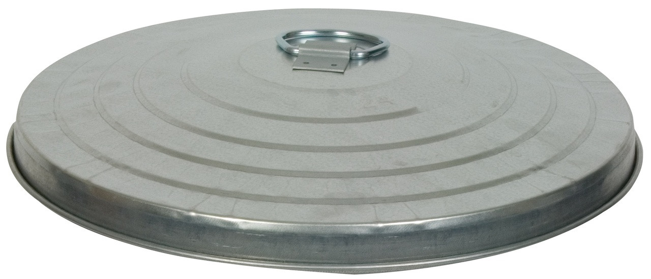 32 Gallon Light Duty Galvanized Trash Can Lid WCD32L