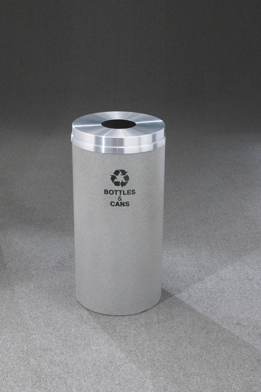 Glaro Metal Recycling Trash Can Granite 16 Gallon