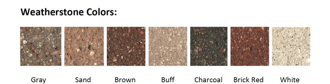Optional Concrete Base Colors