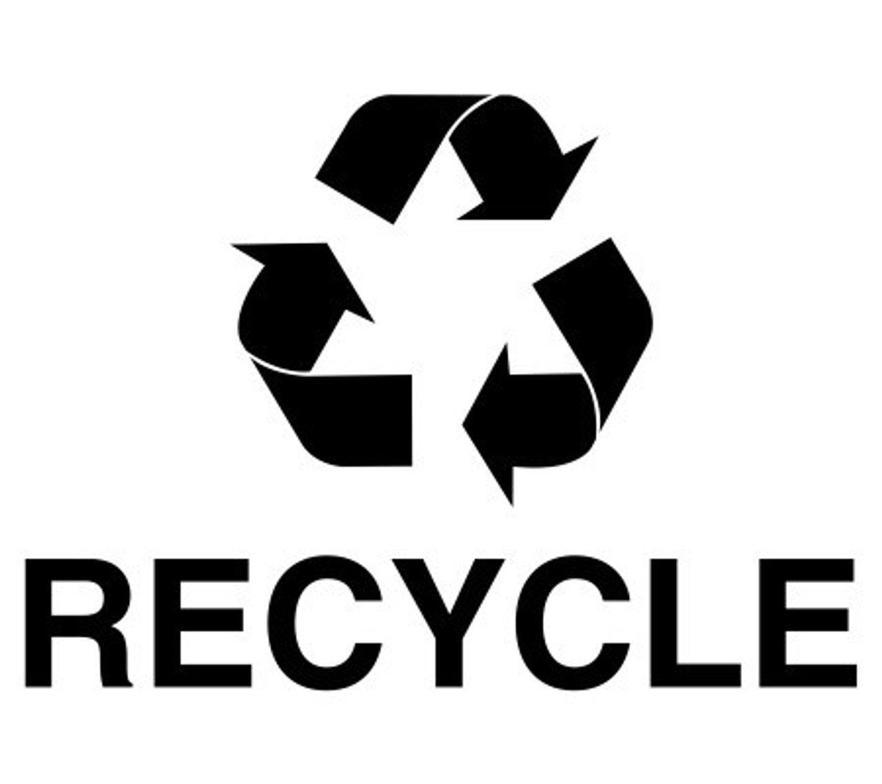 Optional Black Recycle Decal Available (NOT Pre-Applied) For STAINLESS STEEL ONLY