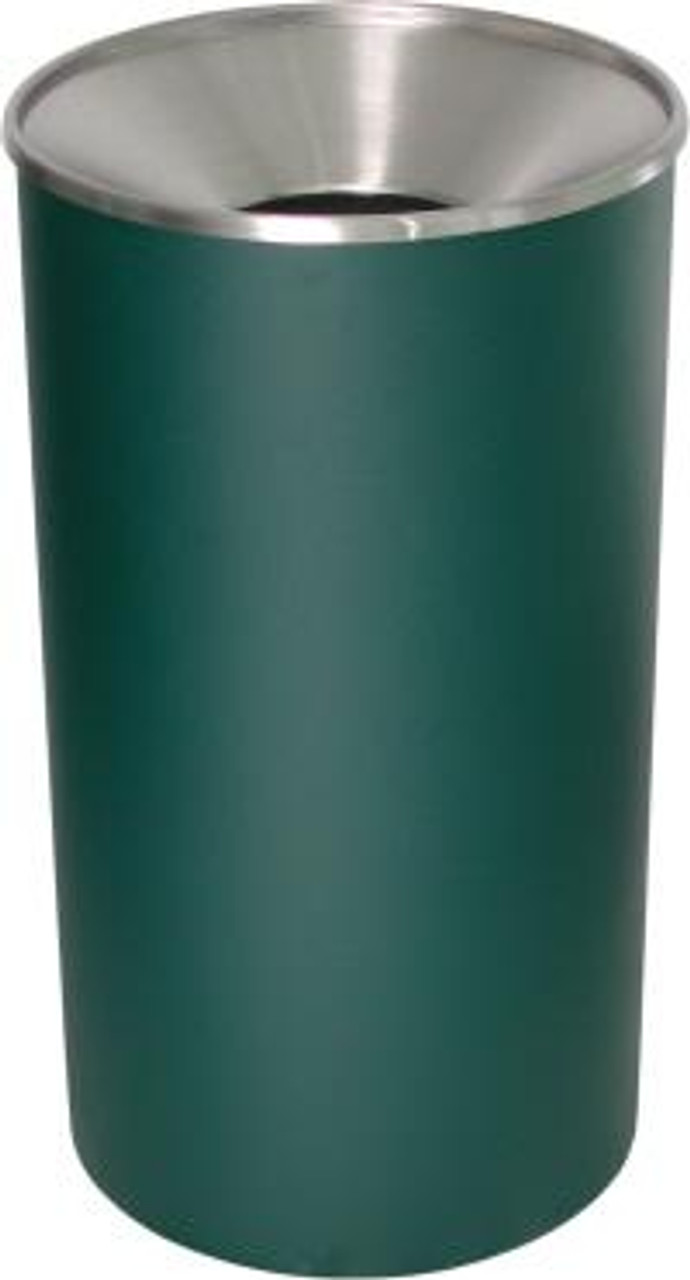 Excell 33 Gallon Metal Indoor Outdoor Trash Can Green