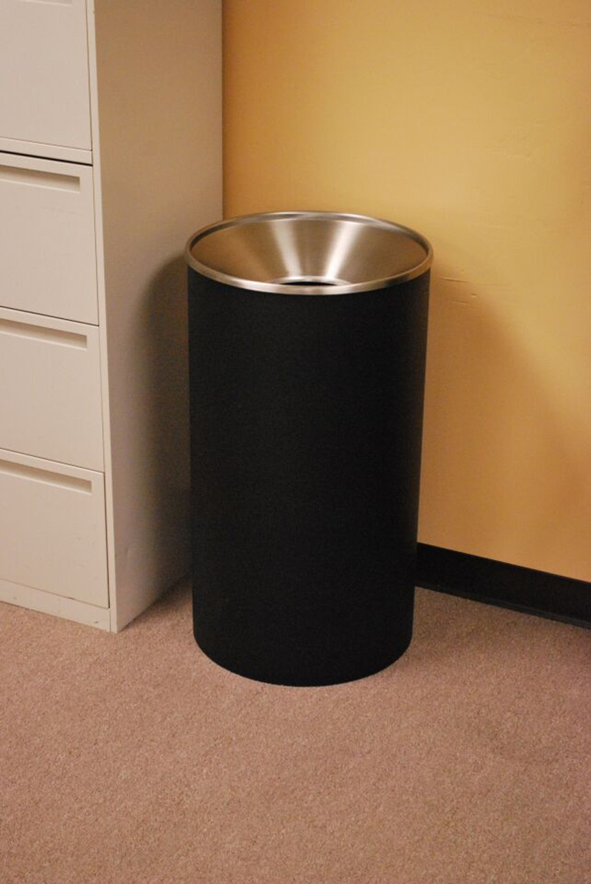 33 Gallon Metal Trash Can in the Office