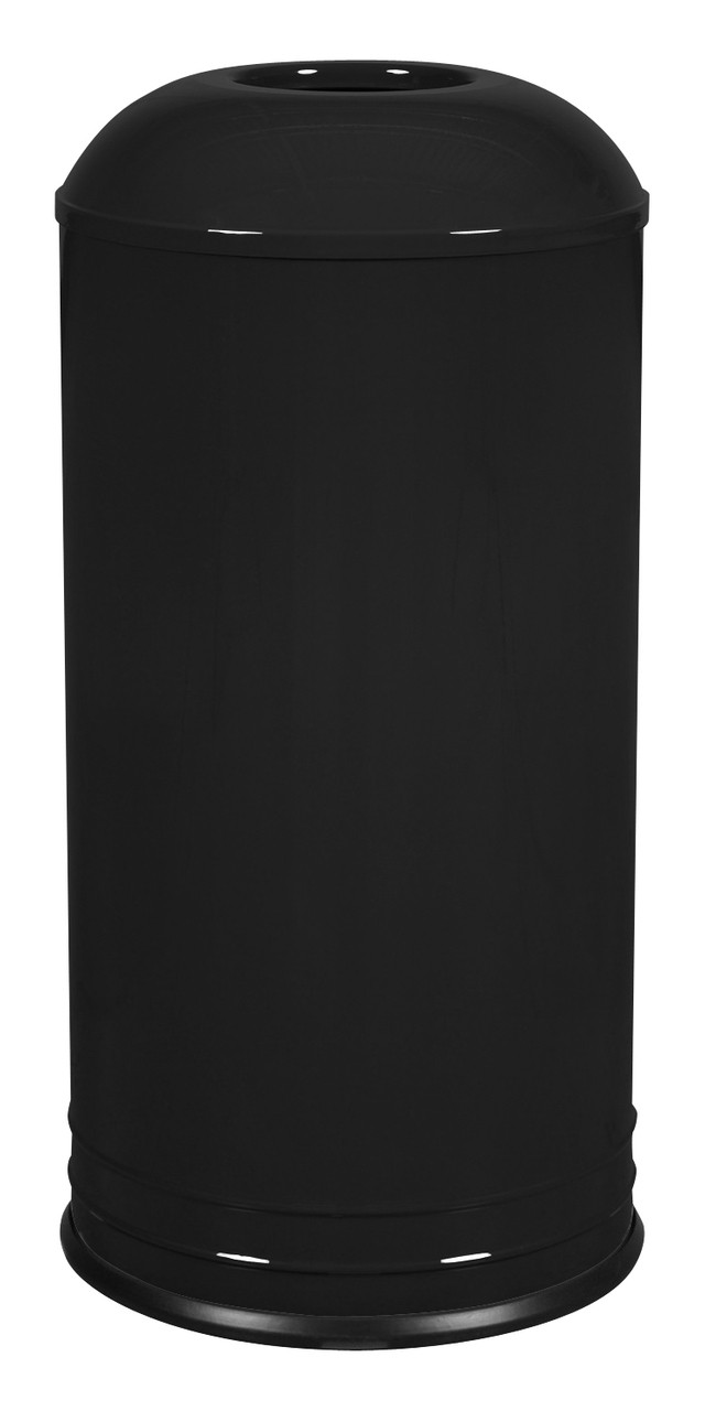 Excell INT1531 D-6 BLK DB CAFE Style Top Designer Trash Can Black Gloss