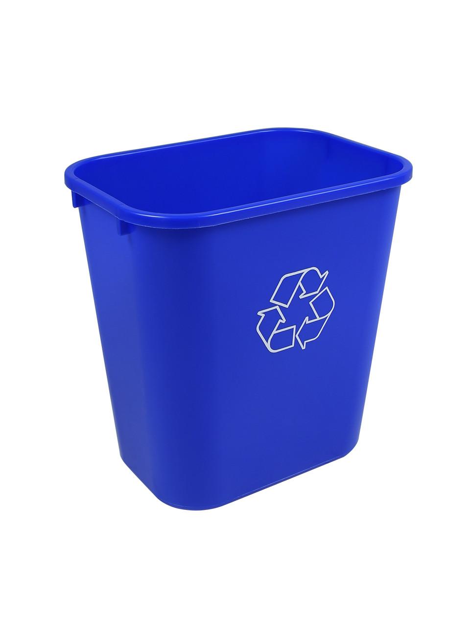 28 Quart Blue Kitchen Recycle Wastebasket 28Q (2 Pack)