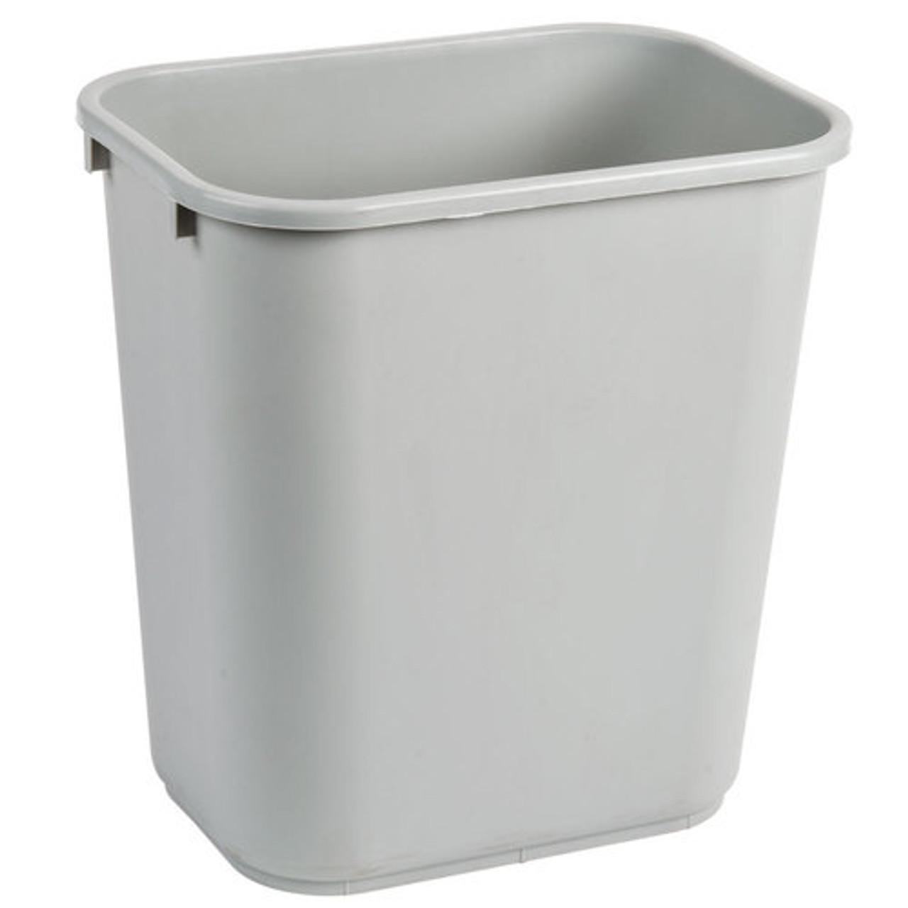 28 Quart Home or Office Plastic Wastebasket Gray