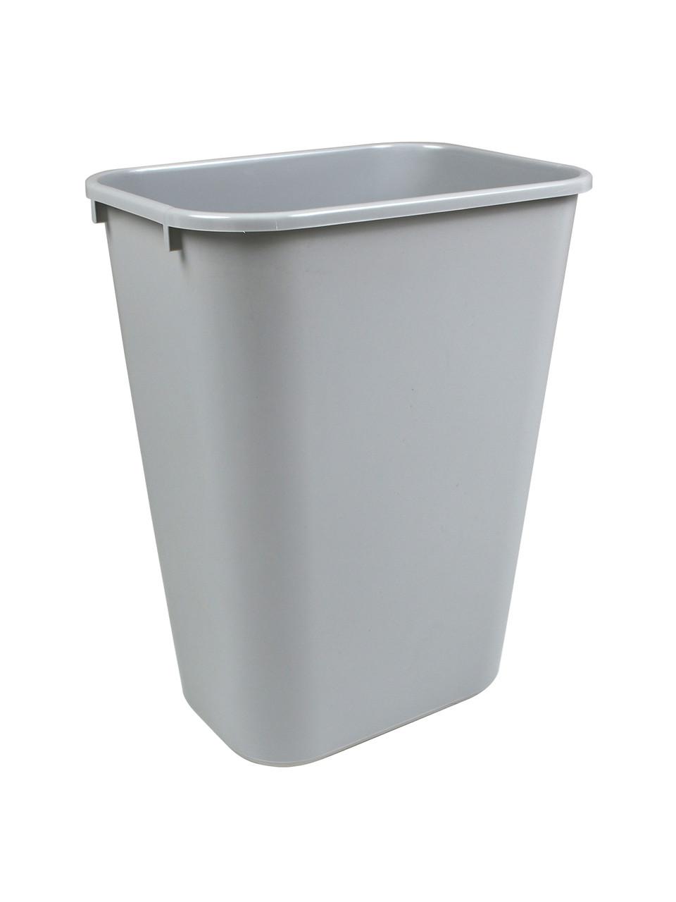 41 Quart Home or Office Plastic Wastebasket Gray