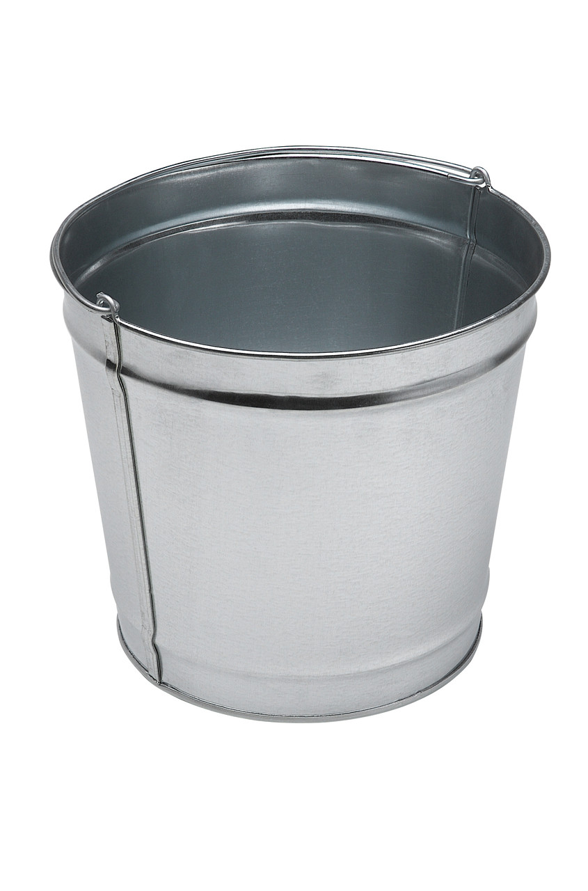 12 Quart Galvanized Steel Utility Pail 794400 for Smokers Outpost