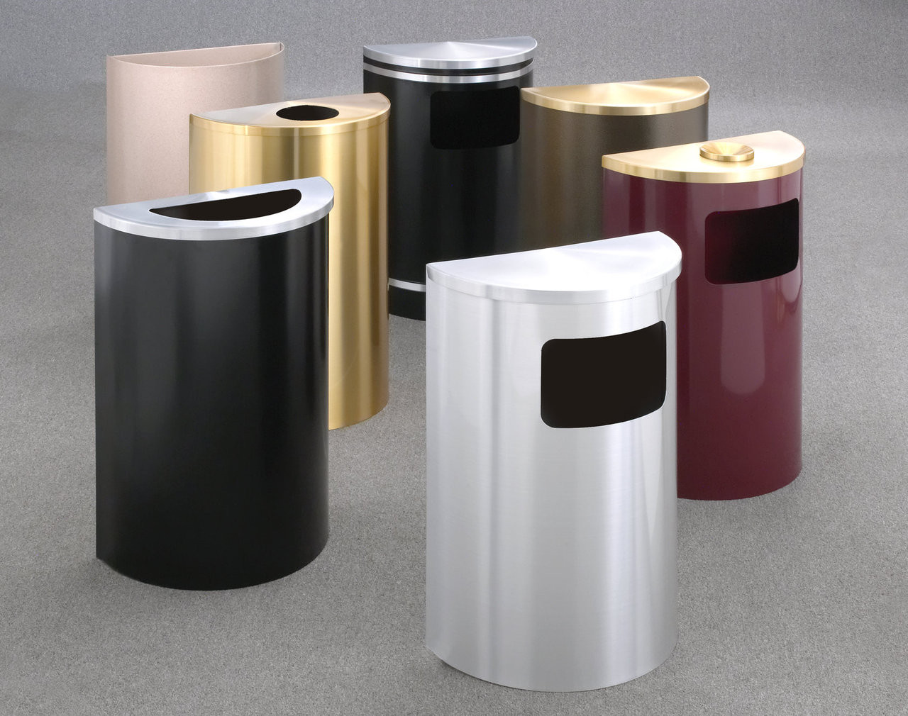 Half Round Trash and Waste Group