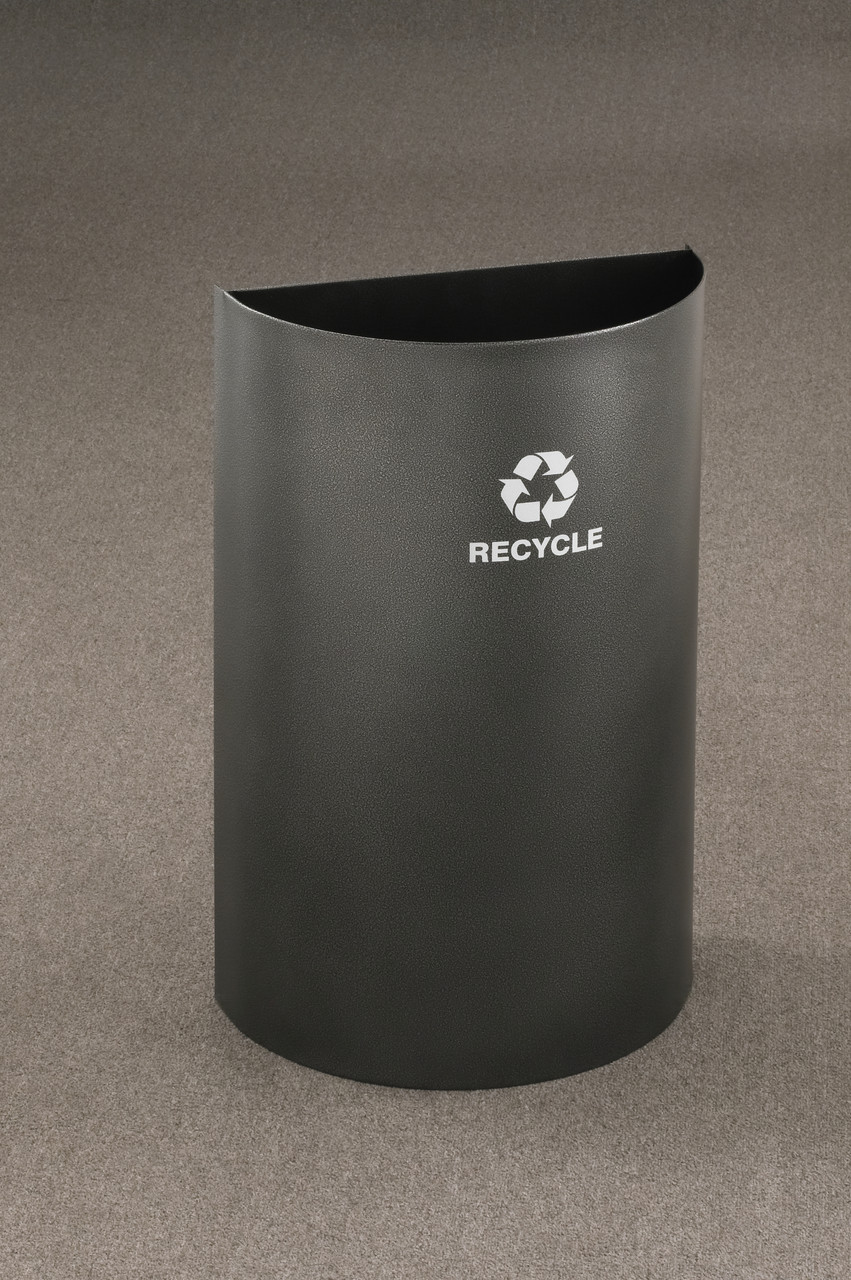 16 Gallon Half Round Open Top Recycling Trash Can RO1899