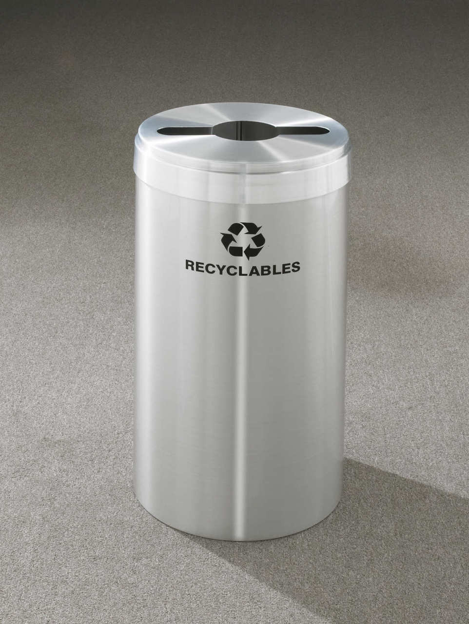 16 Gallon Metal Recycling Trash Can