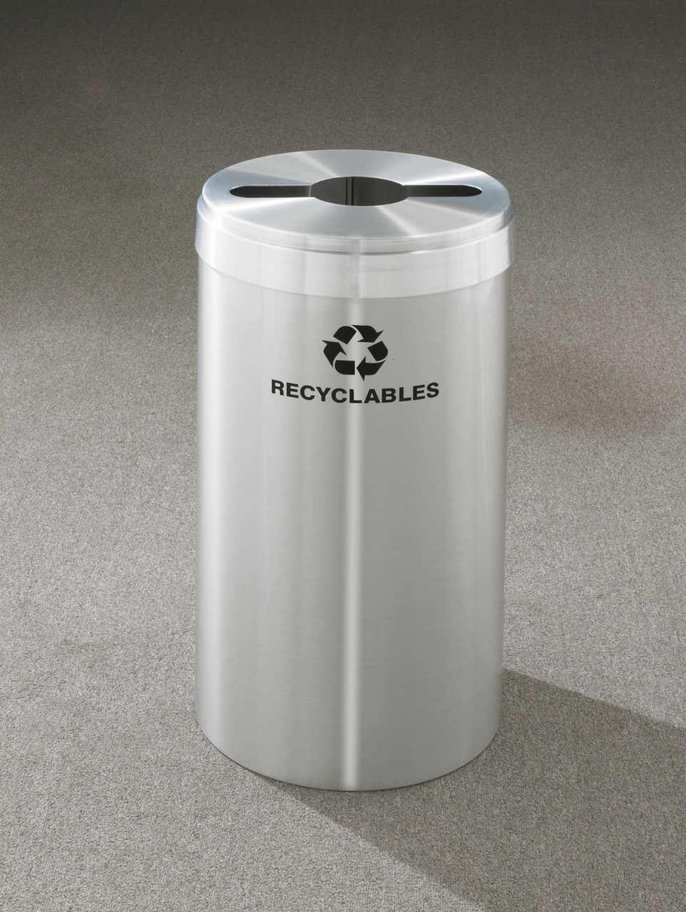 16 Gallon Metal Recycling Trash Can