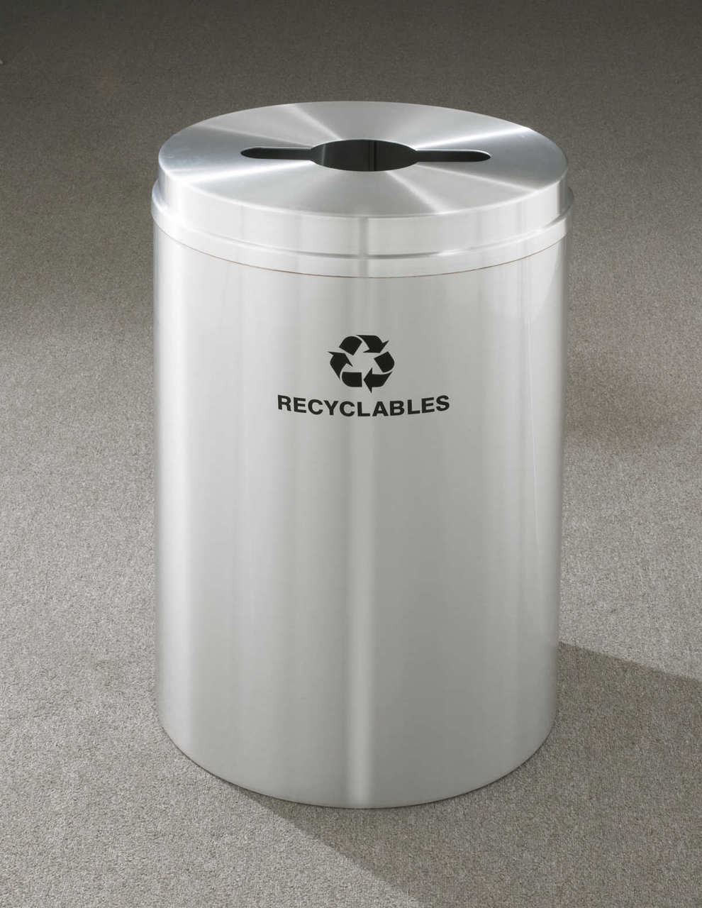 33 Gallon Metal Recycling Bin RB2032 (29 Finishes, 4 Lid Choices, with Plasti Liner)