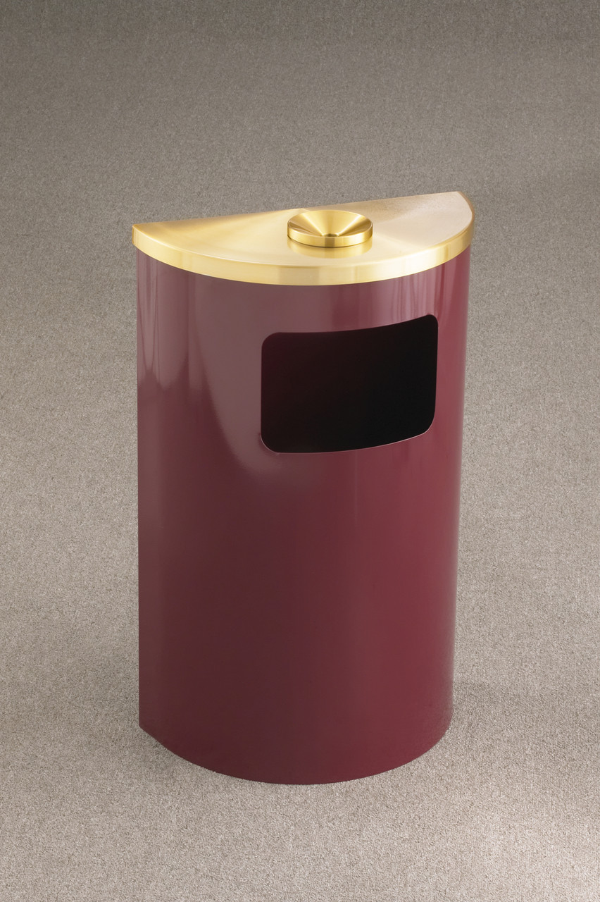 Burgundy with Satin Brass Ashtray Lid
