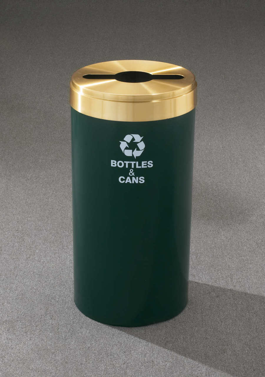 Value 15 Gallon Metal Recycling Trash Can No Inner Liner