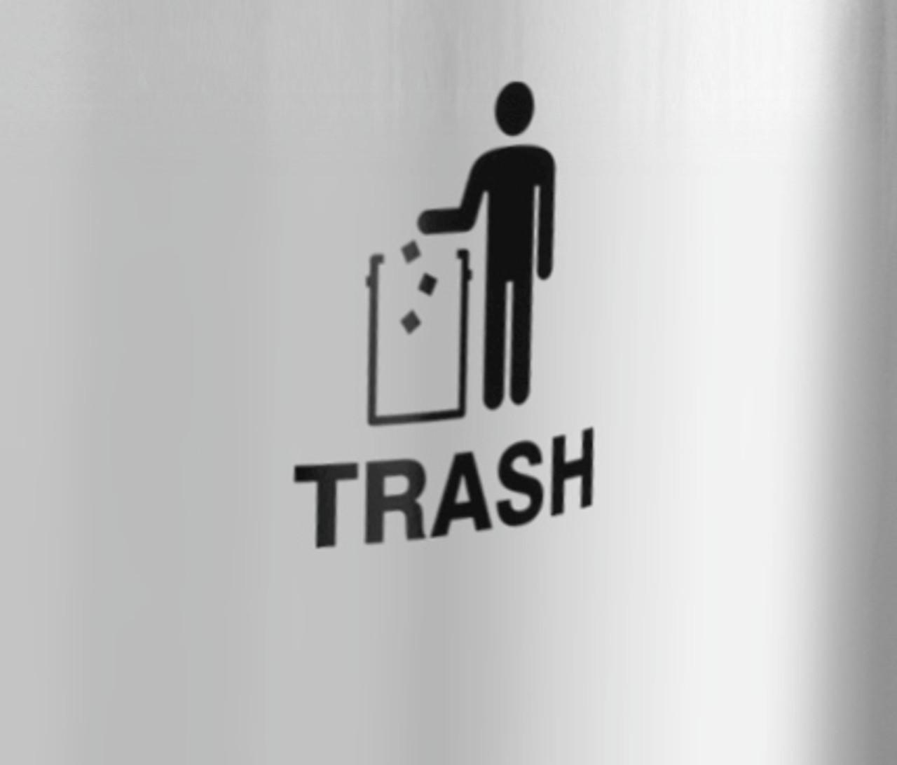 International Tidy Man Trash Decal
