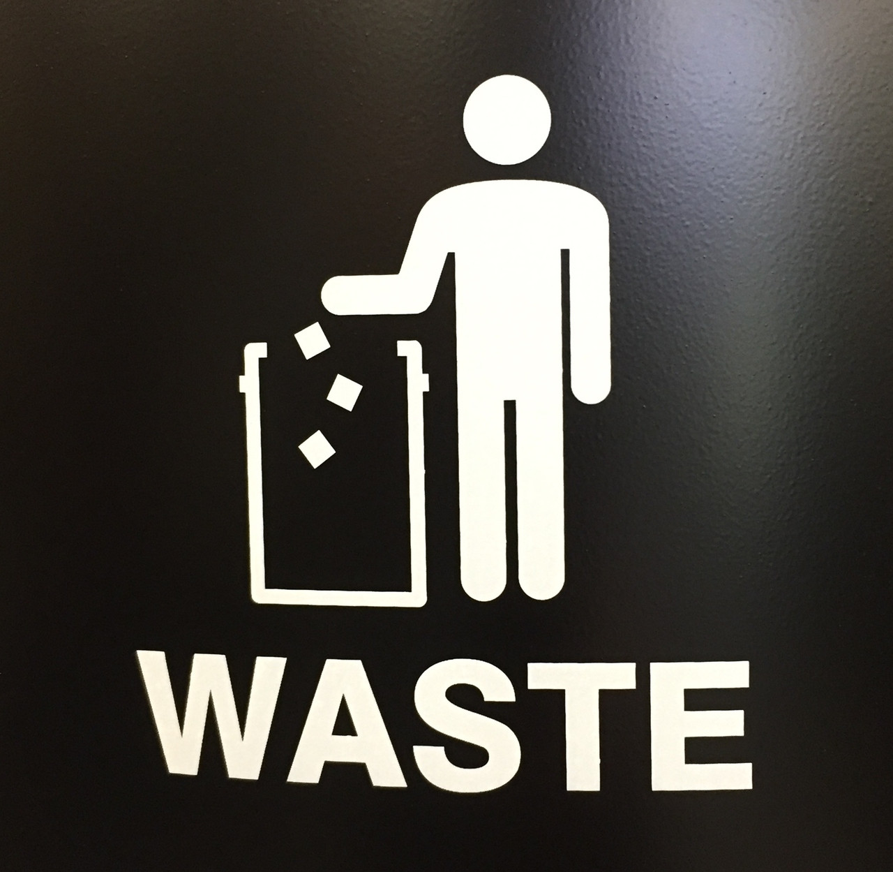 International Tidy Man Waste Decal