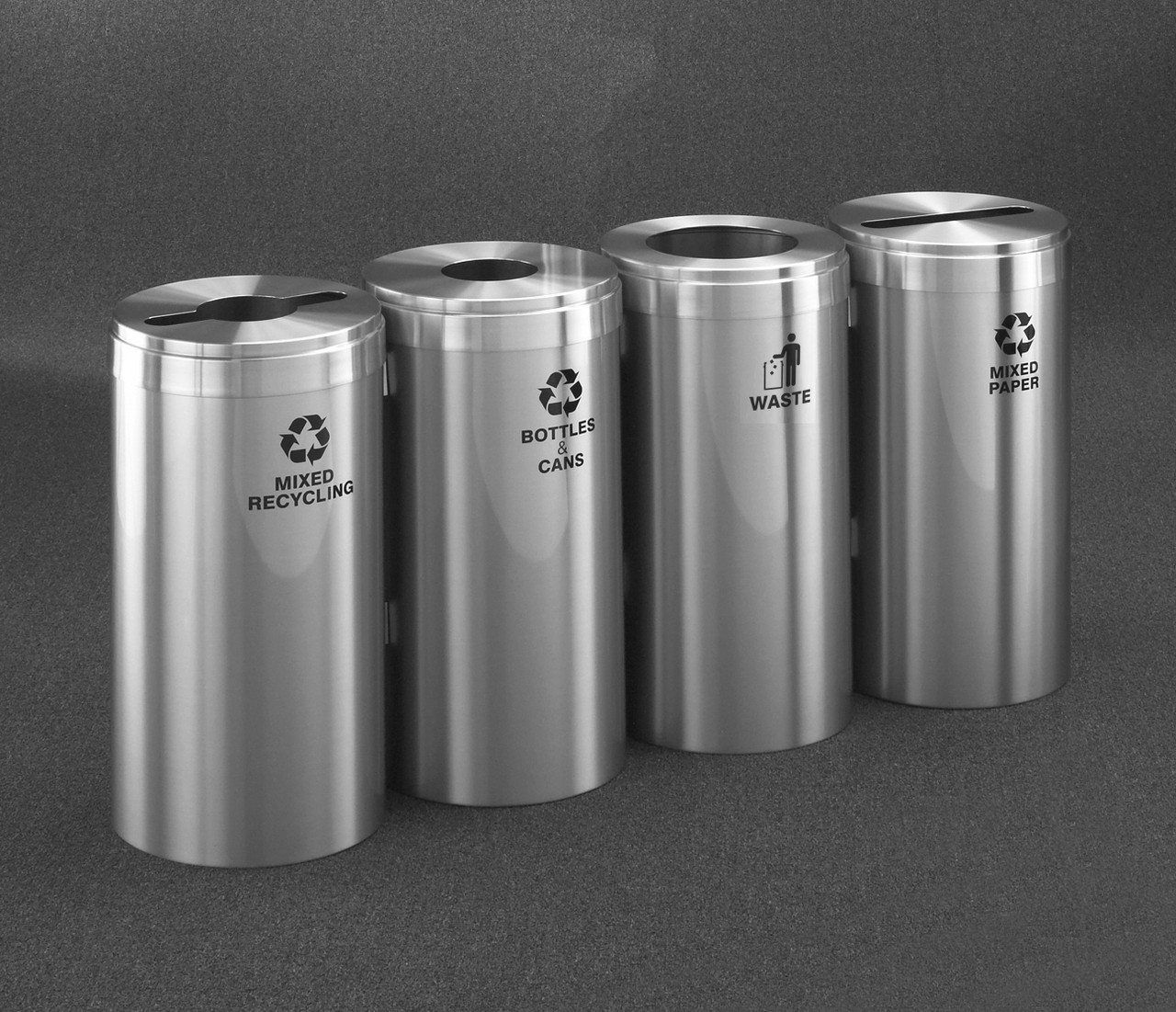 Four Stream Connectable Recycling Combo Satin Aluminum