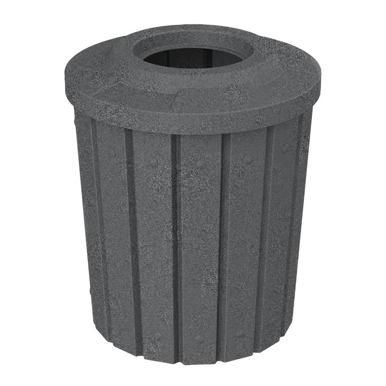 42 Gallon Kolor Can Heavy Duty Trash Receptacle S8281A DARK GRANITE