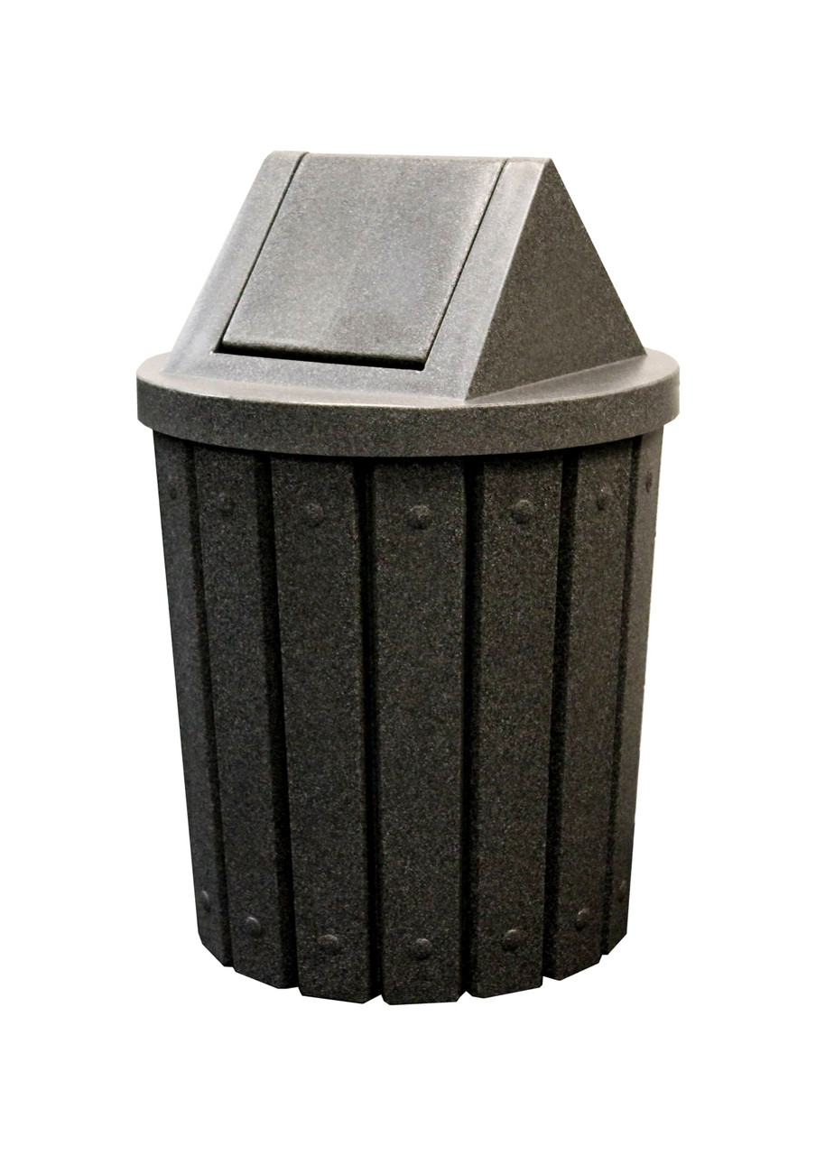 Kolor Can Signature 42 Gallon Heavy Duty Trash Receptacle with Swing Top Lid BEIGE GRANITE
