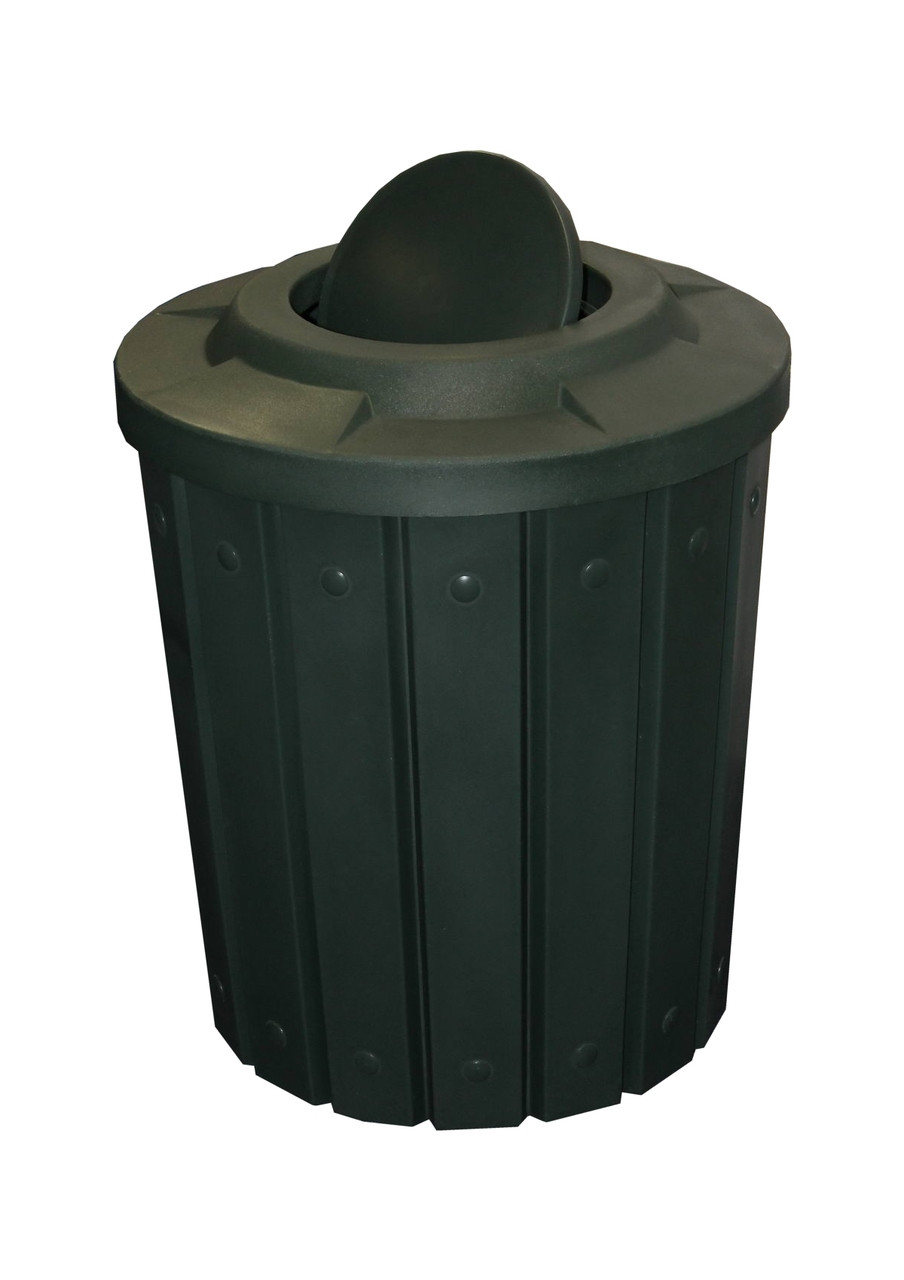 Kolor Can Signature 42 Gallon Heavy Duty Trash Receptacle with Bug Barrier Lid GREEN GRANITE