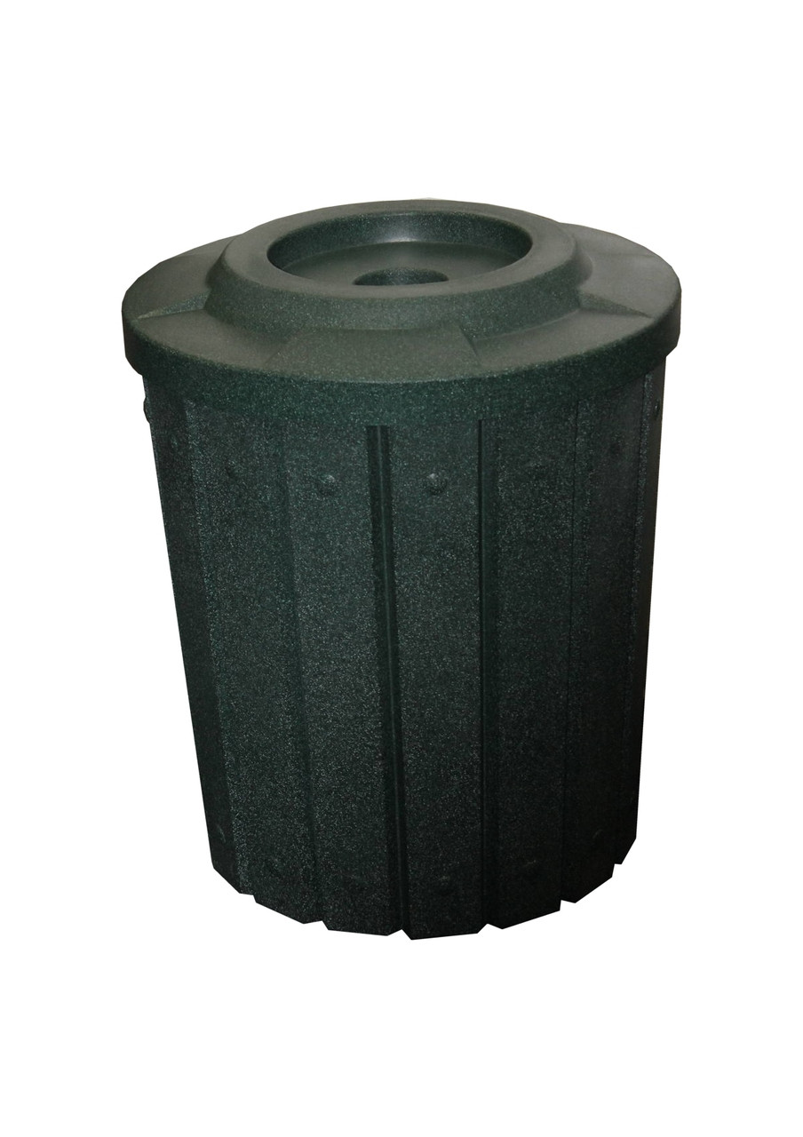 Kolor Can Signature 42 Gallon Heavy Duty Trash Receptacle with 4 Inch Recycle Lid