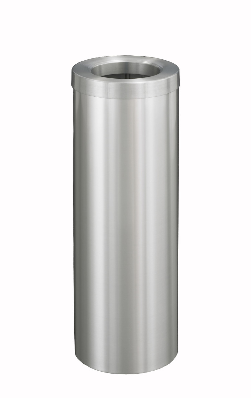 8 Gallon Trash Can F1024 Satin Aluminum