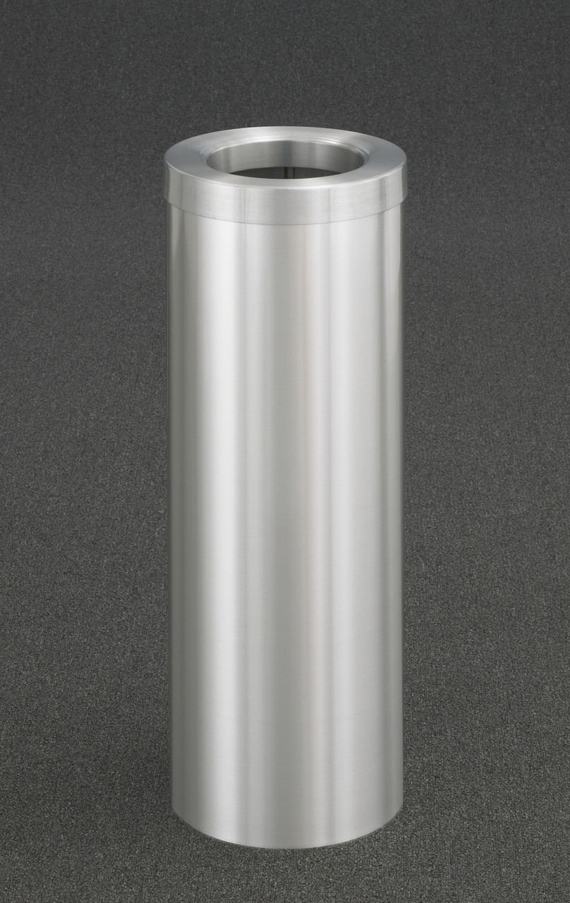 8 Gallon Trash Can F1024 Satin Aluminum