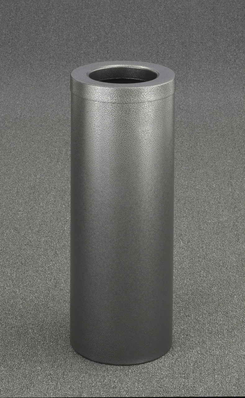 8 Gallon Trash Can F1024 Silver Vein