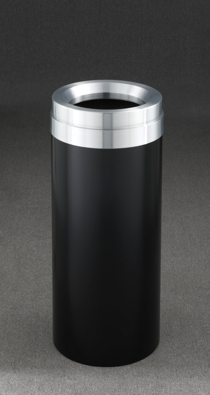 15 Gallon Satin Black with Satin Aluminum Cover
