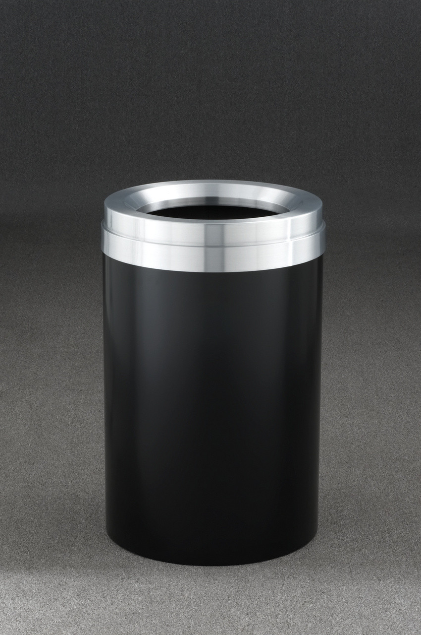41 Gallon Satin Black with Satin Aluminum Top