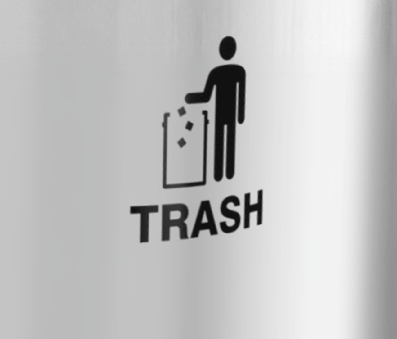 International Tidy Man Trash Decal