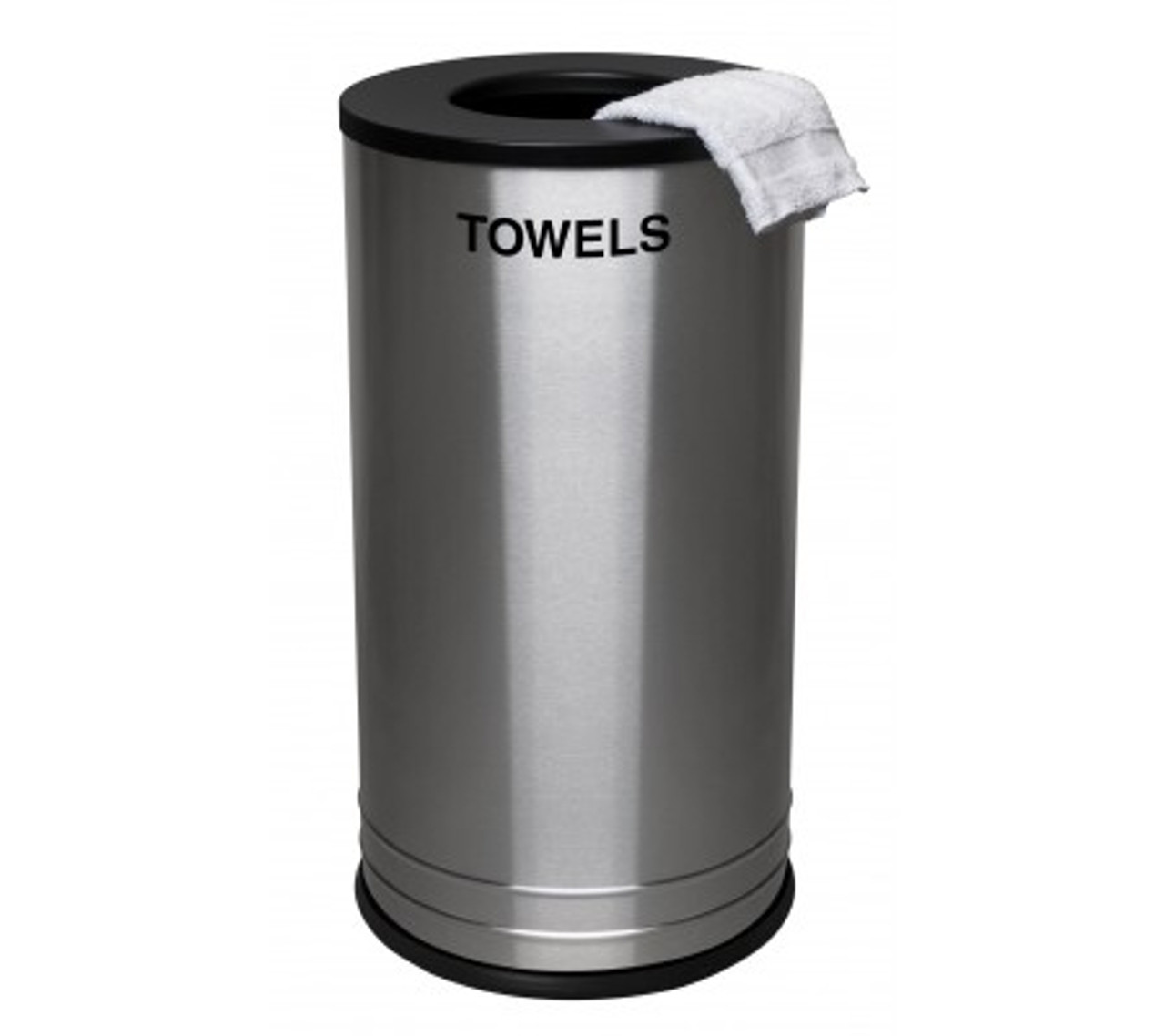 18 Gallon Excell Flat Top Stainless Steel Gym Towel Can SW-1528 TWL SS BLX