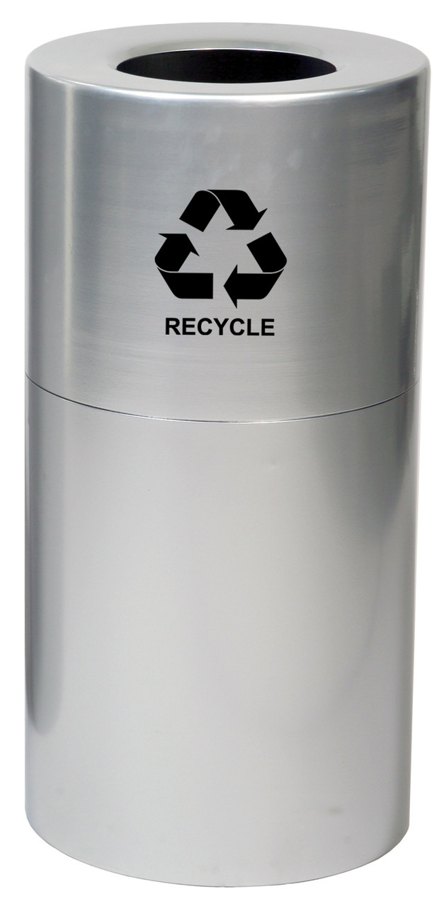 20 Gallon Aluminum Recycling Trash Container Open Top Witt AL18R