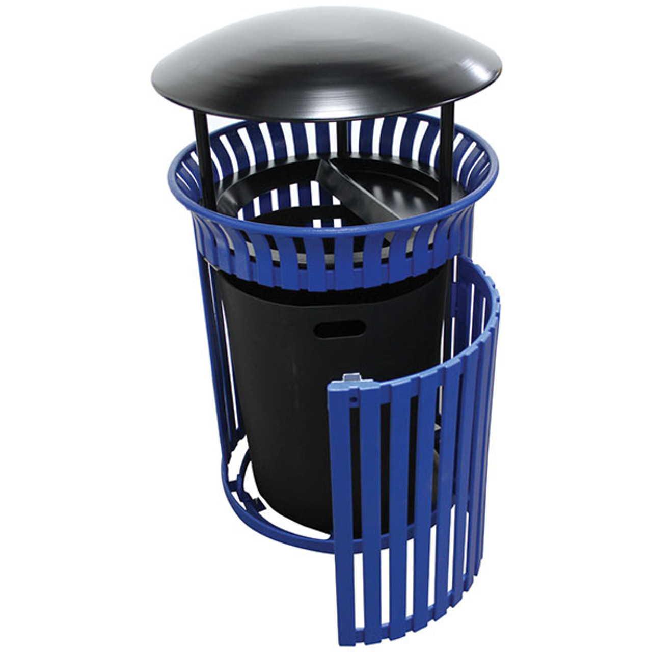25 Gallon Outdoor Covered Waste Receptacle with Side Door MF3214