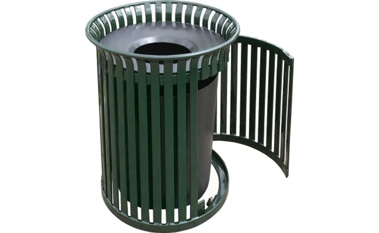 Outdoor Waste Receptacle with Side Door MF3202