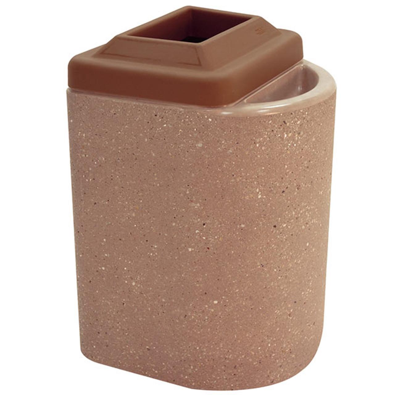 20 Gallon Concrete Outdoor Ash Trash Waste Container TF2085 Weatherstone