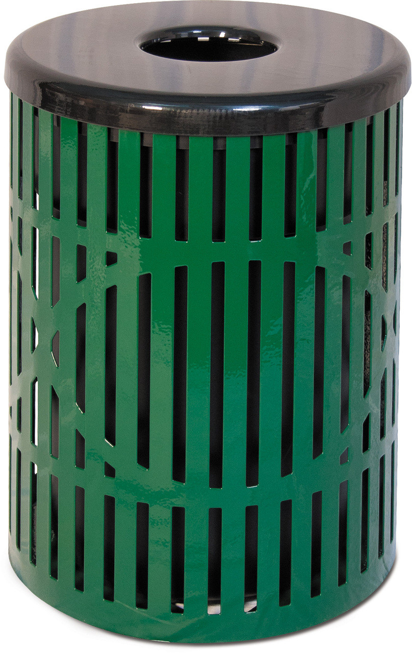 WAVE PATTERN TRASH CAN