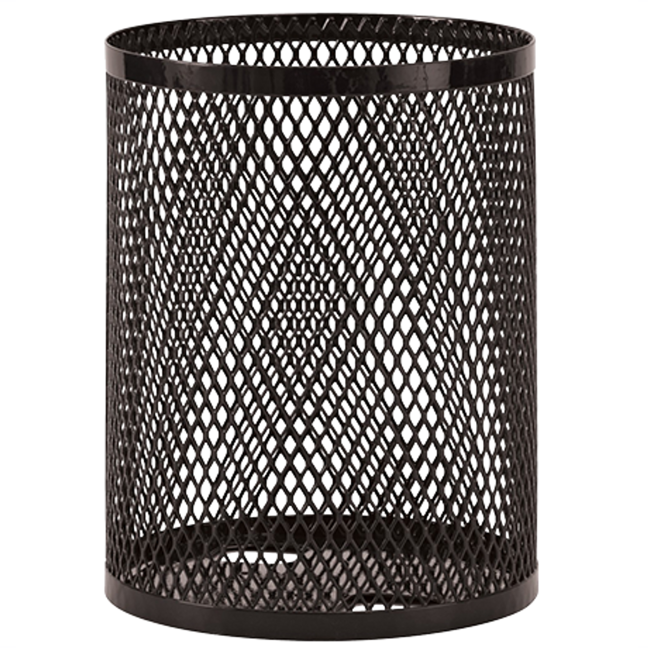 55 Gallon Ultra Site Metal Mesh Street Park Trash Can Black