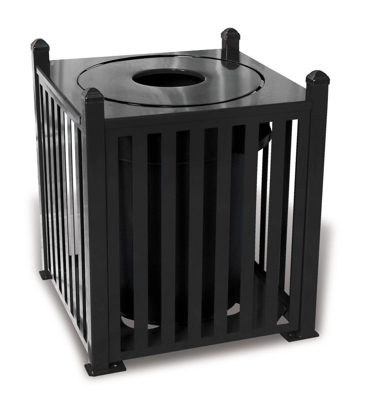 32 Gallon Ultra Site Savannah Outdoor Square Trash Container SV32 (8 Colors)